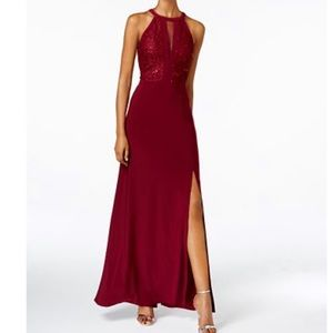NWT- Nightway merlot lace gown size 6 US